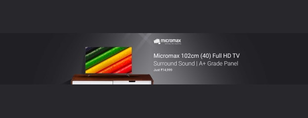 Micromax 102cm (40 inch) Full HD LED TV Online at best Prices In India