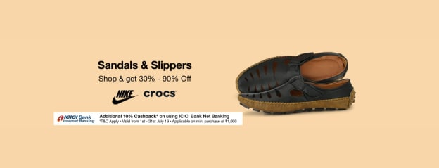 Sandals & Slippers | Min 30-90% Off