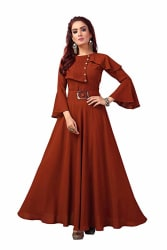 any kids Flared Sleeve Full Long Flared Georgette Kurti