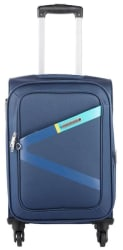 Safari Greater 4 W 65 Blue Strolley Bag (Medium Luggage with 5 Years International Warranty)