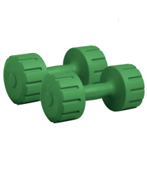 Headly Pvc Dumbell With Grips (pair Of 4 Kg)