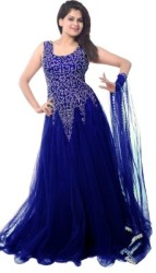Clickedia Straight Gown Blue