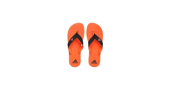 6fda5884b5e8 Adidas Men Black   Orange EEZAY MAX Out Flip-Flops