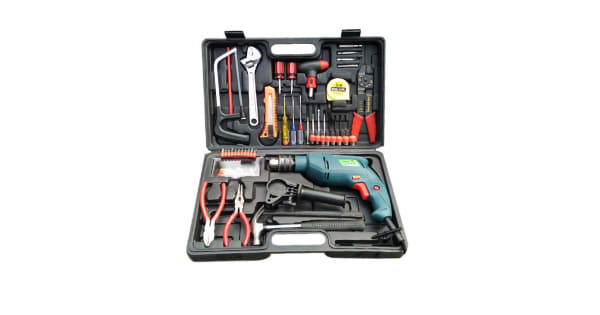 3fa2dc0d4a3 Camel 13mm 850W Impact Drill Machine Tool Kit Box With Reversible Function ( 100+ Drilling Accessories)