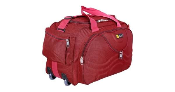 Inte Enterprises (Expandable) red699 Duffel Strolley Bag Red ... a2c36462f262b