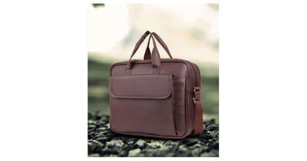 3500f1846867 Trouper Brown P.U. Leather Laptop Bag   Office Bag Sling Bag For Men  amp   Women Side Bag- 15 Inch