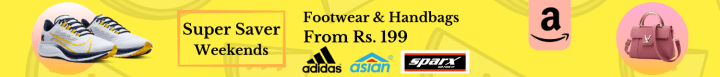 Amazon offers on Men Footware - Amazon Super Saver Weekends | Footwear & Handbags Starting Rs. 199 | Shop Now.