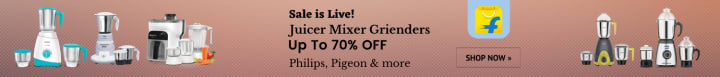 Flipkart offers on Mixers - Sale is Live! | Juicer Mixer Grienders | Up To 70% OFF | Philips, Pigeon & more.