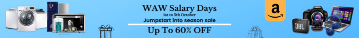 Amazon offers on Electronics - WAW Salary Days (1st to 5th October) | Jumpstart into season sale | NO COST EMI | EXCHANGE OFFER