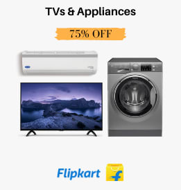 Flipkart offers on Televisions - TVs & Appliances | Sale Extended | Up To 75% OFF | Shop Now.