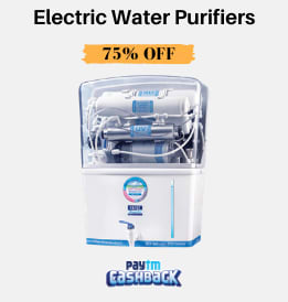Paytmmall offers on Water Purifier - Electric Water Purifiers | Paytm Cashback Up To Rs. 3,700