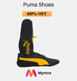 Myntra offers on Men Footware - Puma Shoes | Up To 60% OFF | Shop Now.