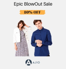 Ajio offers on Women Clothing - Epic BlowOut Sale | Get 40 - 80% OFF | Shop Now.