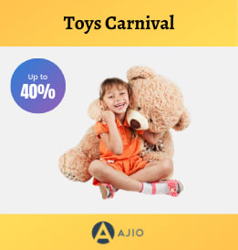 Ajio offers on Toys - Toys Carnival | Min. 40% OFF | Shop Now.