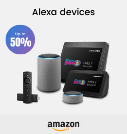 Amazon offers on Audio Devices - Alexa devices and more | Up to 50% OFF | Shop Now.