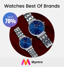Myntra offers on Men Watches - Watches Best Of Brands   Accessories   Up To 50% OFF   Shop Now.