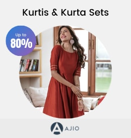 Ajio offers on Women Clothing - Kurtis & Kurta Sets   Up To 80% OFF   Shop Now.