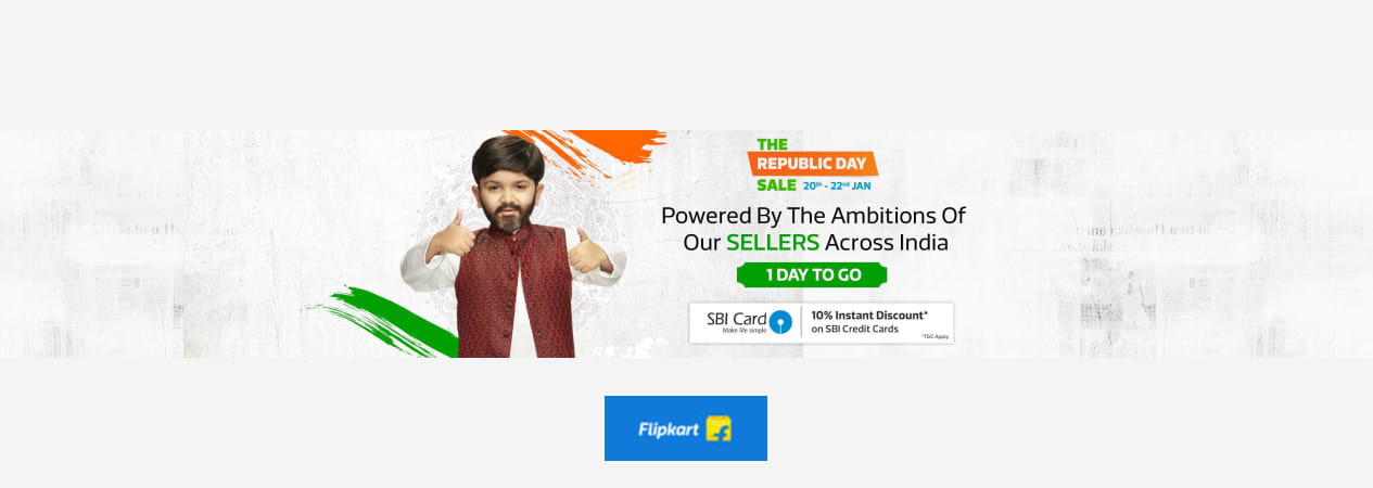 Republic Day Sale 20th to 22nd Jan 2019 - Find Top Deals & Offers on Mobiles, TVs, Appliances, Laptops, Cameras, Lifestyle, Home | Flipkart.com