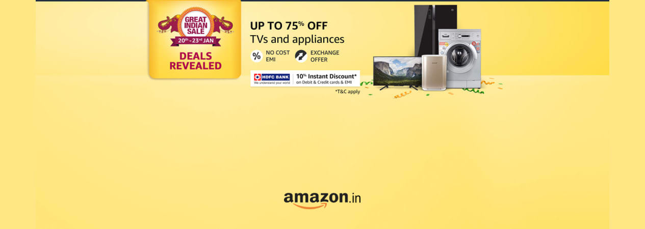Up to 75% off | TVs and appliances