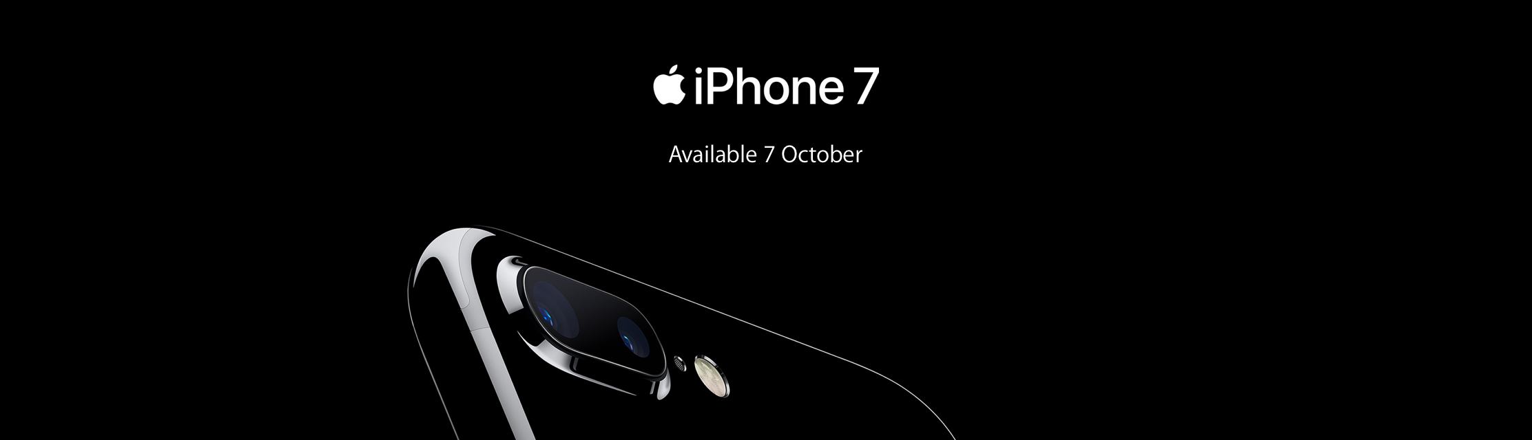 iPhone7 available from 7th October 2016