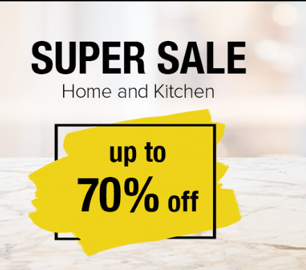 Up to 70% off on Home & Kitchen Appliances