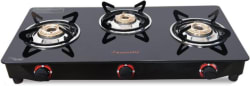 Butterfly Rapid 3 Burner Glass Manual Gas Stove 3 Burners