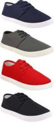 Chevit Combo Pack of 4 Casual Sneakers With Sneakers For Men Multicolor