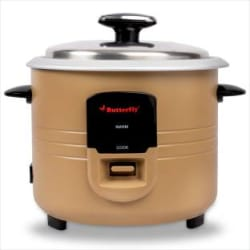 Butterfly Wave Electric Rice Cooker with Steaming Feature(1.8 L, Gold)