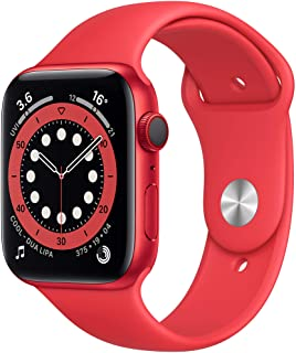 Amazon offers on Mobiles - New Apple Watch Series 6 (GPS + Cellular, 44mm) - Product(RED) - Aluminium Case with Product(RED) - Sport Band