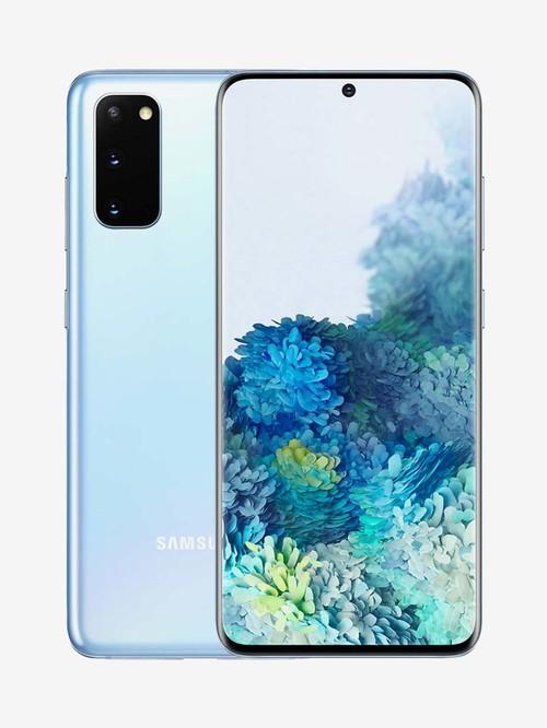 Tata Cliq offers on Mobiles - Samsung Galaxy S20 128 GB (Cloud Blue) 8 GB RAM, Dual SIM 4G
