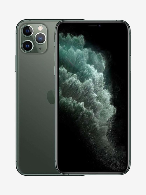 Tata Cliq offers on Mobiles - Apple iPhone 11 Pro Max 64 GB (Midnight Green) (Includes EarPods, Power Adapter)