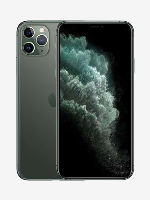 Tata Cliq offers on Mobiles - Apple iPhone 11 Pro Max 256 GB (Midnight Green) (Includes EarPods, Power Adapter)