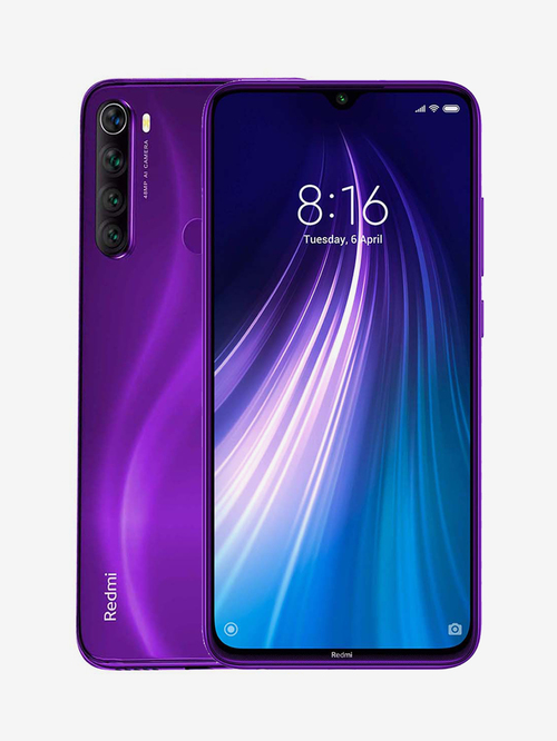 Tata Cliq offers on Mobiles - Xiaomi Redmi Note 8 64 GB (Cosmic Purple) 4 GB RAM, Dual SIM 4G