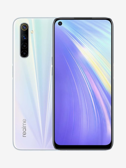 Tata Cliq offers on Mobiles - RealMe 6 64 GB (Comet White) 6 GB RAM, Dual SIM 4G