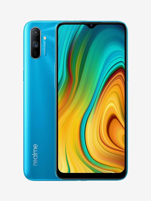 Tata Cliq offers on Mobiles - RealMe C3 32 GB (Frozen Blue) 3 GB RAM, Dual SIM 4G