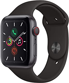 Amazon offers on Mobiles - Apple Watch Series 5 (GPS + Cellular, 44mm) - Space Gray Aluminium Case with Black Sport Band