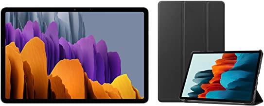 Amazon offers on Mobiles - Samsung Galaxy Tab S7 (11 inch, Wi-Fi + LTE, 6 GB RAM, 128 GB Internal) - Mystic Silver + Cover