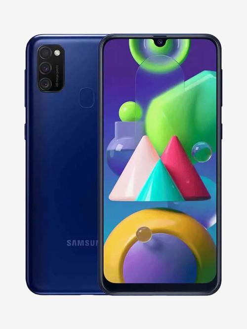 Tata Cliq offers on Mobiles - Samsung Galaxy M21 128 GB (Midnight Blue) 6 GB RAM, Dual SIM 4G