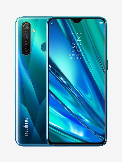 Tata Cliq offers on Mobiles - RealMe 5 Pro 64 GB (Crystal Green) 6 GB RAM Dual SIM 4G