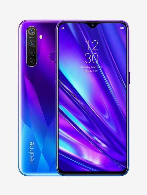 Tata Cliq offers on Mobiles - RealMe 5 Pro 64 GB (Sparkling Blue) 6 GB RAM Dual SIM 4G