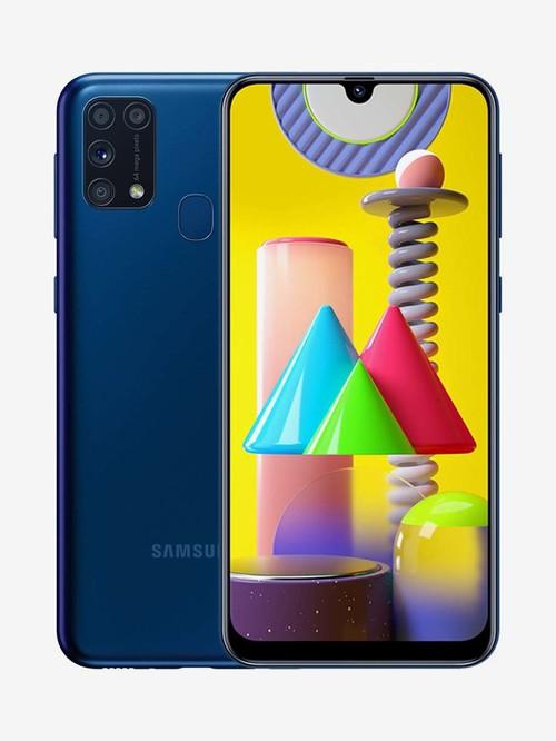 Tata Cliq offers on Mobiles - Samsung Galaxy M31 64 GB (Ocean Blue) 6 GB RAM, Dual SIM 4G