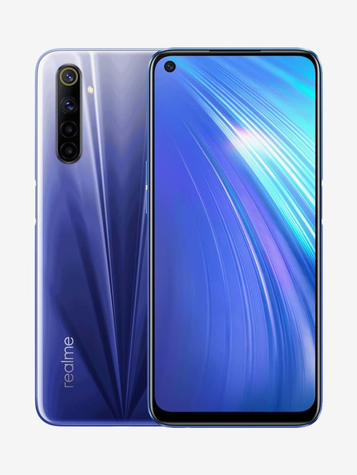 Tata Cliq offers on Mobiles - RealMe 6 64 GB (Comet Blue) 6 GB RAM, Dual SIM 4G