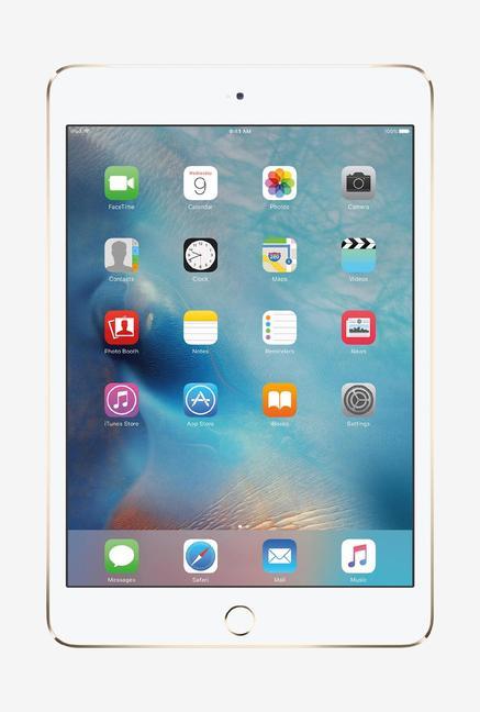 Tata Cliq offers on Mobiles - Apple MK782HN/A iPad Mini 4 Wi-Fi Cell 128GB (Gold)