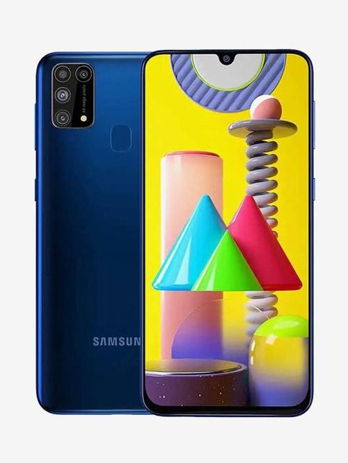 Tata Cliq offers on Mobiles - Samsung Galaxy M31 128 GB (Ocean Blue) 6 GB RAM, Dual SIM 4G