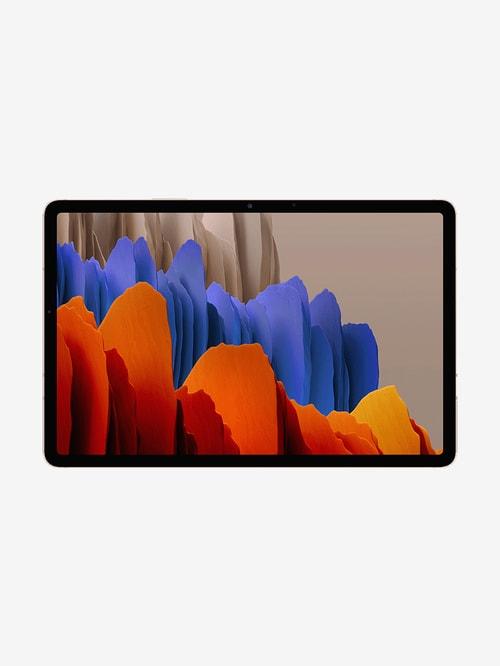 Tata Cliq offers on Mobiles - Samsung Galaxy Tab S7 (11 inch, 6 GB RAM, 128 GB, Wi-Fi + 4G) Mystic Bronze