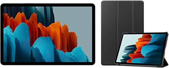 Amazon offers on Mobiles - Samsung Galaxy Tab S7 (11 inch, Wi-Fi + LTE, 6 GB RAM, 128 GB Internal) - Mystic Black + Cover