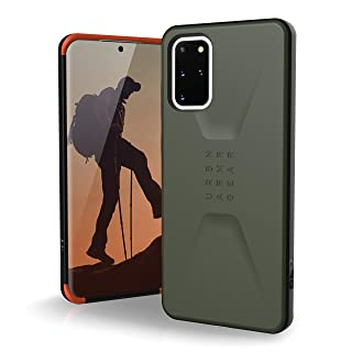 Amazon offers on Mobiles - URBAN ARMOR GEAR UAG Designed for Samsung Galaxy S20 Plus 5G [6.7-inch Screen] Civilian [Olive Drab] Sleek Protection Feather-Light Military Grade Drop Tested Case