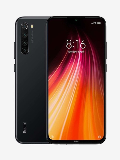 Tata Cliq offers on Mobiles - Xiaomi Redmi Note 8 64 GB (Space Black) 4 GB RAM, Dual Sim 4G