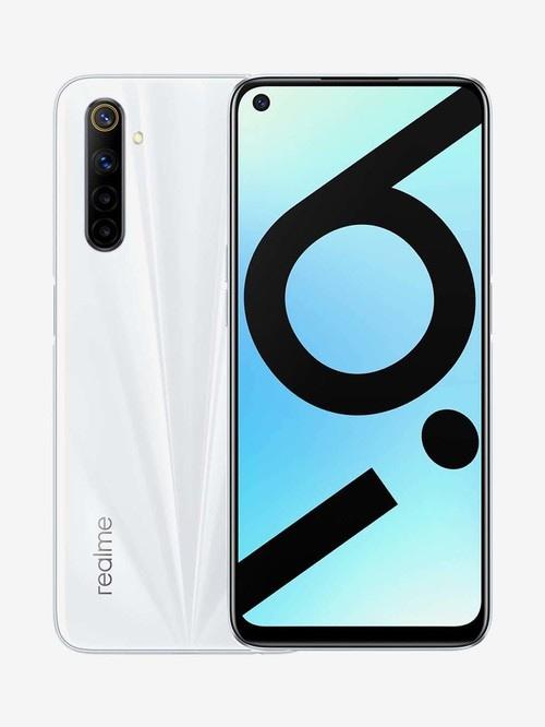 Tata Cliq offers on Mobiles - RealMe 6i 64 GB (Lunar White) 6 GB RAM, Dual SIM 4G