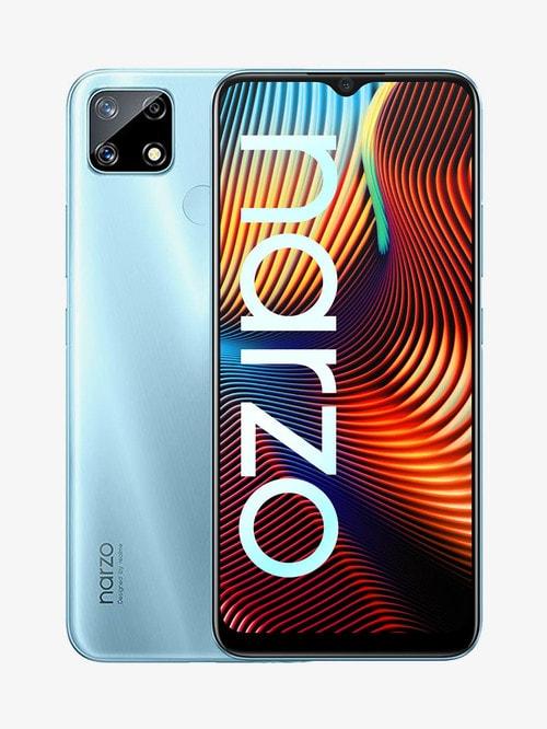 Tata Cliq offers on Mobiles - RealMe Narzo 20 128 GB (Victory Blue) 4 GB RAM, Dual SIM 4G